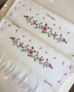 Cross Stitch Borders, Cross Stitch Flowers, Cross Stitch Patterns, Hand Embroidery, Embroidery Designs, Diy And Crafts, Bath Towels & Washcloths, Hand Towels, Cross Stitch Samplers