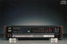 With Disc Stabilizer -  A&D DP-9000 (1988) Cool Art, Fun Art, Digital Audio, Decks, Tape, Nostalgia, Vintage, Painting, Design