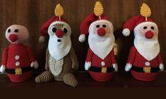 chip and dale Crochet Santa, Love Crochet, Diy Crochet, Crochet Toys, Crochet Christmas, Simple Christmas, Kids Christmas, Ceramic Christmas Trees, Christmas Ornaments