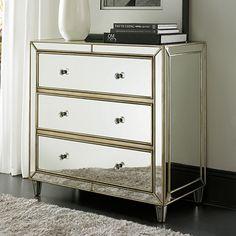 Best Libby Silver Mirrored 3 Drawer Chest Storage Mirror 400 x 300
