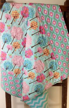 Baby+Girl+Quilt+Pretty+Little+Things+Trees+Deena+by+CoolSpool,+$105.00