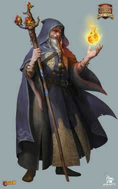 Kabam by Grafit-art Kingdoms of Camelot wizard sorcerer warlock fireball staff armor clothes clothing fashion player character npc | Create your own roleplaying game material w/ RPG Bard: www.rpgbard.com | Writing inspiration for Dungeons and Dragons DND D&D Pathfinder PFRPG Warhammer 40k Star Wars Shadowrun Call of Cthulhu Lord of the Rings LoTR + d20 fantasy science fiction scifi horror design | Not Trusty Sword art: click artwork for source: