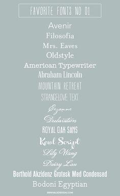 Favorite Fonts 01