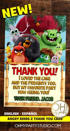 ANGRY BIRDS PARTY, ANGRY BIRDS 2 MOVIE, ANGRY BIRDS 2 INVITATION, ANGRY BIRDS PARTY IDEAS, ANGRY BIRDS PARTY PRINTABLES Bird Birthday Parties, 2nd Birthday, Angry Birds 2 Movie, Movie Invitation, My Favorite Part, My Favorite Things, For Your Party, Party Printables, Birthday Invitations