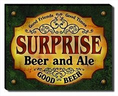 Surprise Beer & Ale Stretched Canvas Print ZuWEE…