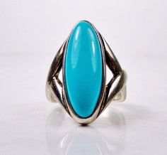 Carolyn Pollack Relios Sterling Silver 925 Blue Turquoise Designer Jewelry Ring #CarolynPollack #Solitaire