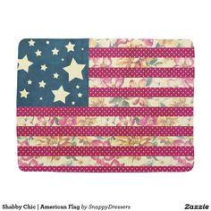Shabby Chic | American Flag Baby Blanket