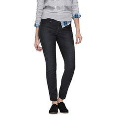 Mid-Rise Denim Legging (Slim Fit) Dark Wash - Mossimo®