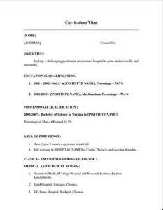 experience nurse resume template