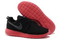 newest 42135 9afe3 Comprar zapatillas para correr nike roshe run mesh hombre negras rojas en  oferta baratas Nuevas