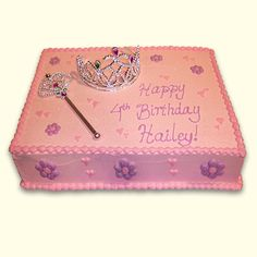 Wonderland Bakery, Every Bite is Enchanting Ice Cream Birthday Cake, Birthday Sheet Cakes, Birthday Cake Girls, Princess Birthday, Princess Theme, Happy 4th Birthday, 4th Birthday Parties, Birthday Celebration, Birthday Ideas