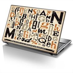 Laptop Cover TYPOGRAPHY by Sticky!!
