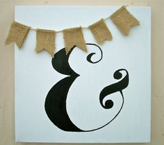 Ampersand Painting with Burlap Bunting by seekimothy on Etsy, $12.95