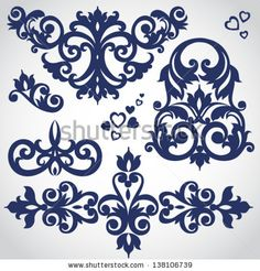 Stock Images similar to ID 185700674 - vector baroque ornament in...