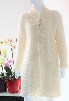 Ivory crochet cardigan Crochet cardigan Mohair crochet | Etsy Mohair Yarn, Mohair Sweater, Sweater Coats, Sweaters, Knit Shrug, Crochet Cardigan, Knitted Shawls, Bridal Shawl, Mulberry Silk
