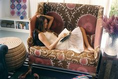 Reading on the love seat