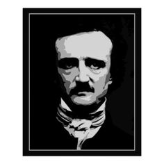 Black and white vector art, Edgar Allan Poe posters