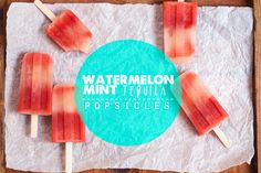 Watermelon-Mint Tequila Popsicles // Hungry Girl por Vida