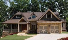 Plan W15667GE: Sloping Lot, Northwest, Craftsman, Photo Gallery, Luxury, Mountain, Premium Collection House Plans & Home Designs
