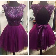 2015  Backless Short Prom dress L19