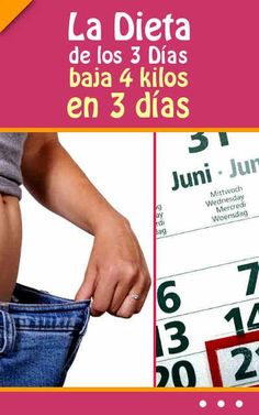 La Dieta de los 3 Días (baja 4 kilos en 3 días) Health Diet, Health And Wellness, Health Fitness, Lose Weight, Weight Loss, Led Weaning, Workout Challenge, Diet Recipes, Detox