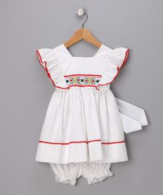 Take a look at this White Ruffle Dress & Bloomers - Toddler by C.I. Castro & Jayne Copeland on #zulily today!