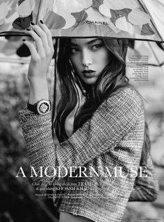 """Tiana Tolstoï is a """"Modern Muse"""" for a Special Chanel for ELLE by Benjamin Kanarek –"""