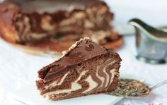 Sernik - czekoladowa zebra