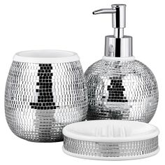 Buy George Home Accessories - Disco Ball from our Bathroom Accessories range today from George at ASDA. Silver Accessories, Bathroom Accessories, Home Accessories, Bling Bathroom, New Bathroom Ideas, Mirror Ball, Old Bathrooms, Chic Bedding, Flat Ideas