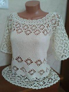 Discover thousands of images about Crochet Koala - Crochet Cardigan De Verano Parte 1 de 2 Débardeurs Au Crochet, Gilet Crochet, Crochet Shirt, Crochet Cardigan, Easy Crochet, Crochet Stitches, Crochet Patterns, Crochet Gratis, Simple Dress Pattern