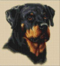Rottweiler  Beaded Tapestry Pattern by seesbeyond on Etsy, $6.00   Love Rotties!