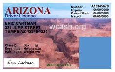 Arizona Drivers license Template