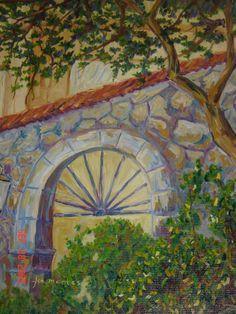 Arco en muro de piedra #fcomontespintor #queretaro #arte