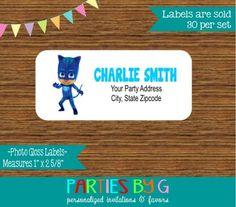 PJ Masks Catboy Return Address Gloss Labels Personalized Custom