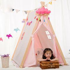 Praça casa brinquedo do bebê crianças brincam tenda tendas de tecido casa de jogo do bebê casa de bonecas tenda