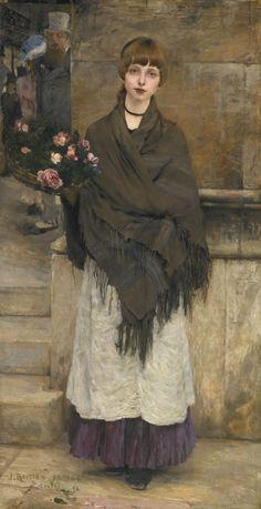 Jules Bastien-Lepage (1848 - 1944) - Flower seller in London, 1882