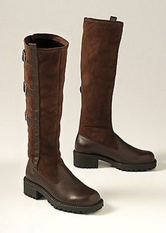 Comfy and adorable. #Women's Buckle-Up Ready-Set-Stretch #Boots from @Sahalie Catalog via Catalog Spree $149.98