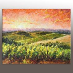 A personal favorite from my Etsy shop https://www.etsy.com/listing/470406264/oil-painting-italian-tuscany-vineyard
