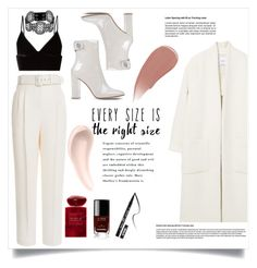 """""""Every Size Is The Right Size"""" by ann-s-nna ❤ liked on Polyvore featuring Soap & Glory, Emilia Wickstead, MANGO, Gianvito Rossi, Manokhi, T By Alexander Wang, Burberry, Chanel, Giorgio Armani and Kat Von D"""