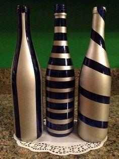 Wine Bottle Crafts – Make the Best Use of Your Wine Bottles – Drinks Paradise Empty Wine Bottles, Wine Bottle Art, Painted Wine Bottles, Diy Bottle, Bottles And Jars, Glass Bottles, Wine Glass, Decorated Bottles, Decorative Wine Bottles