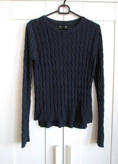 Kup mój przedmiot na #vintedpl http://www.vinted.pl/damska-odziez/swetry-z-dzianiny/15920278-granatowy-sweter-warkocze-hm-basic-xs-34
