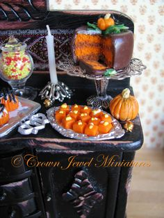 ©Dessert Table At The Witch's Ball by Crown Jewel Miniatures