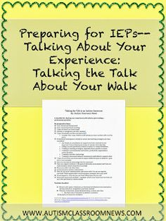 Autism Classroom News: Talking About Your Experience: Talking the Talk About Your Walk {freebie!}