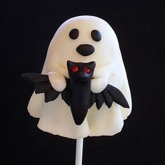 Ghostly Brownie Pops-Bat Friend by kellbakes for Baking911, via Flickr