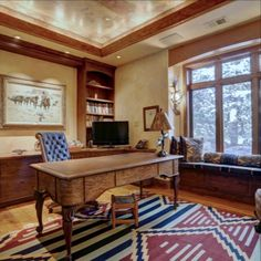 2195 Pine Drop Lane, Golden Colorado Home for sale. Lynne Wright Colo Realtor representing the ultimate in location, luxury and mountain living. Mountain Living, Colorado Homes, Colorado Mountains, Office Desk, Corner Desk, Pine, Drop, Elegant, Luxury