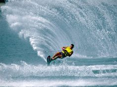 I am terrible at water skiing, but it is something that I wish I was good at.