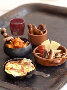 Flamenco Feast - Flamenco Feast of Sausage Tapas Mini Sausages and Manchego Cheese Tortilla