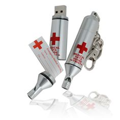 USB Thumb Drive &  Medical Alert keychain with all medical records!