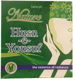 Husn-e-Yousuf is one of a kind formulation that revitalizes and rejuvenates skin, and tightens the pores. Natural grass Husn-e-Yousuf combined with other herbs nourishes and stock skin cells with vitamins and antioxidants, giving radiance and glow to skin.