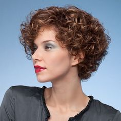 Here are 22 curly short hairstyles you will absolutely love, from Short-Haircut: Having short curly hair lets you have a lot of time for other things. You can use fewer products to replenish it… Short Curly Hairstyles For Women, Curly Hair Styles, Curly Hair With Bangs, Permed Hairstyles, Natural Hair Styles, Hairstyles 2018, Asian Hairstyles, Female Hairstyles, Black Hairstyles